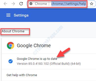 Informazioni sugli aggiornamenti automatici di Chrome