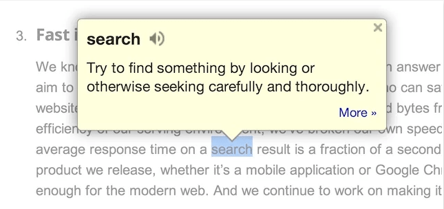 Estensione Google Dictionary Chrome min