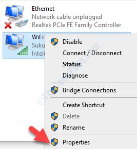 Connessioni di rete Connessione Wi-Fi attiva Fare clic con il pulsante destro del mouse su Proprietà