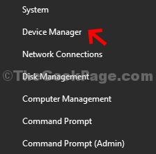 Fare clic con il pulsante destro del mouse su Gestione dispositivi