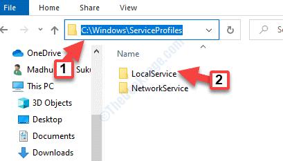 Win + E File Explorer Passa a Serviceprofiles Localservice