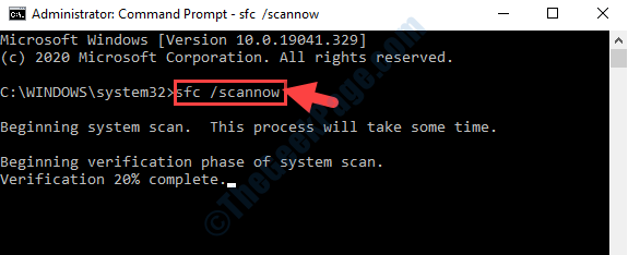Prompt dei comandi Esegui Sfc Scannow Command Enter