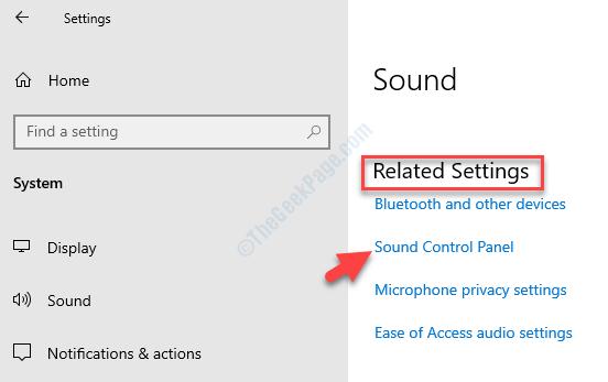 Impostazioni audio Impostazioni relative al pannello di controllo audio sul lato destro