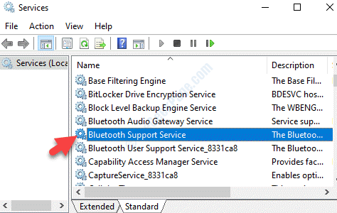 Servizi Nome Servizio di supporto Bluetooth