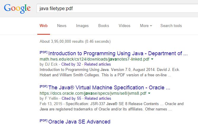filetype-search-google