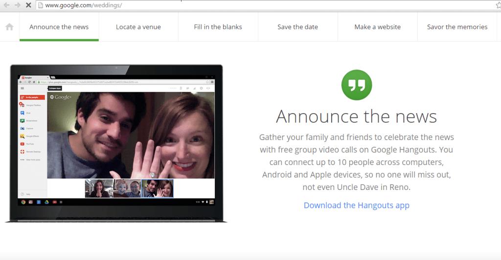 matrimonio di google