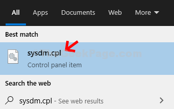 Desktop Avvia Sysdm.cpl Invio