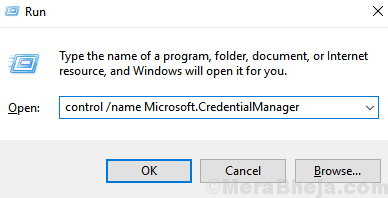 Minimo Microsoft Credential Manager