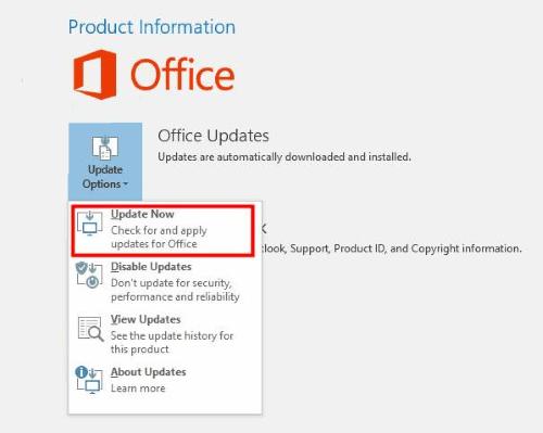 Aggiorna Office Outlook non risponde