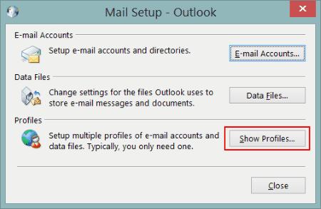 Il profilo di Outlook non risponde