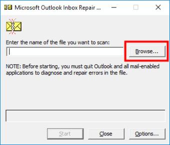 Scanspst Outlook non risponde