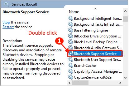 Servizi Bluetooth Fare doppio clic