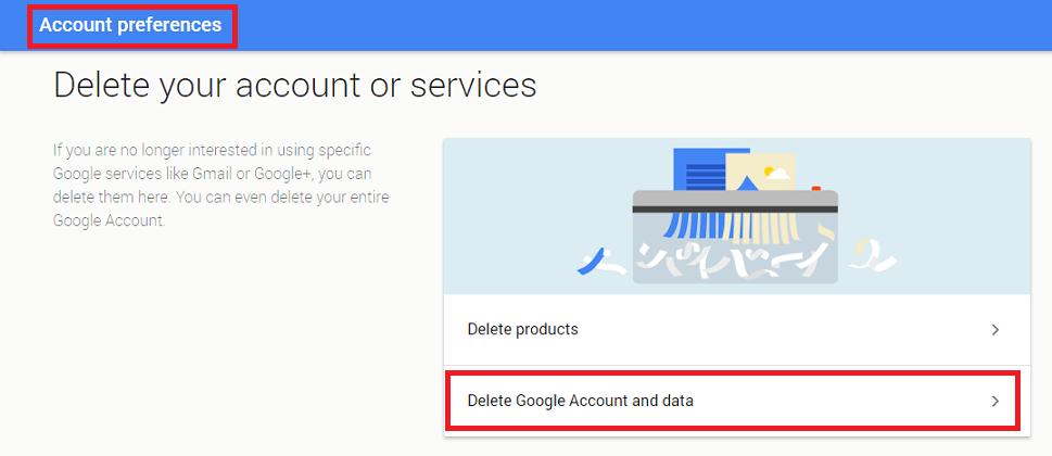 preferenze dell'account