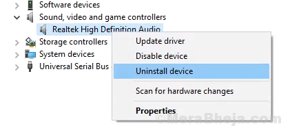 Disinstalla driver audio min