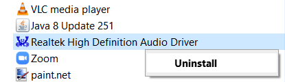 Disinstallare Realtek Hd Audio Driver