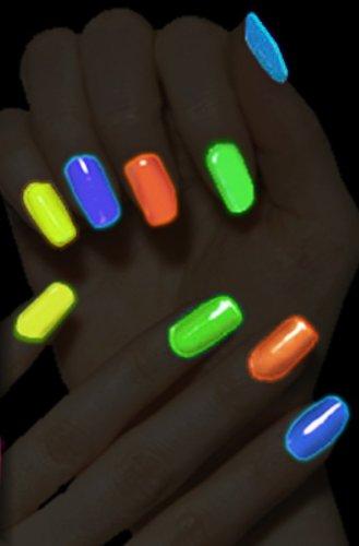 smalto per unghie bagliore al buio