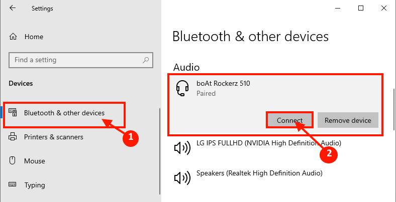 Abbinamento Bluettoth
