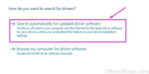 Cerca automaticamente il software del driver aggiornato