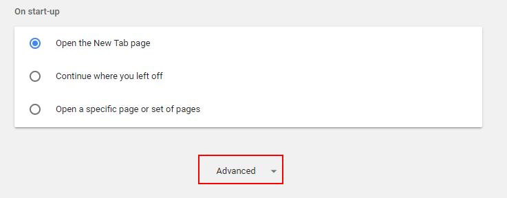 Impostazioni avanzate di Chrome