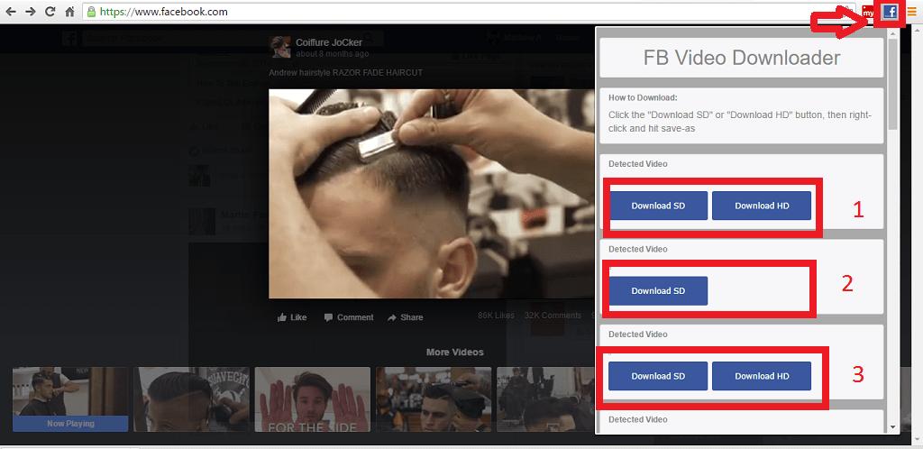Downloader video FB passaggio 2