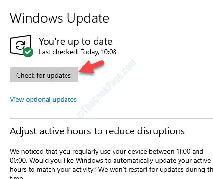 Aggiornamento e sicurezza Aggiornamento di Windows Verificare la disponibilità di aggiornamenti