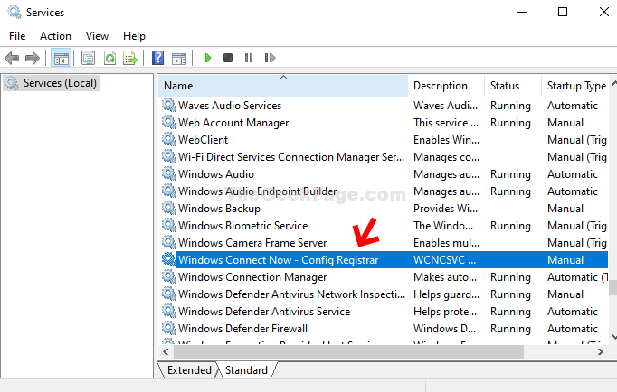 Nome servizi Windows Connect Now