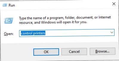 Controllo del funzionamento della stampante