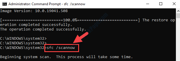 Prompt dei comandi (admin) Esegui Sfc Scannow Command Enter