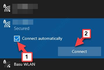Seleziona Connessione di rete Wi-Fi Controlla automaticamente la connessione