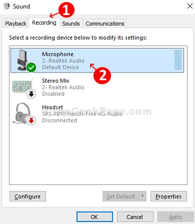 Microfono con scheda di registrazione del suono