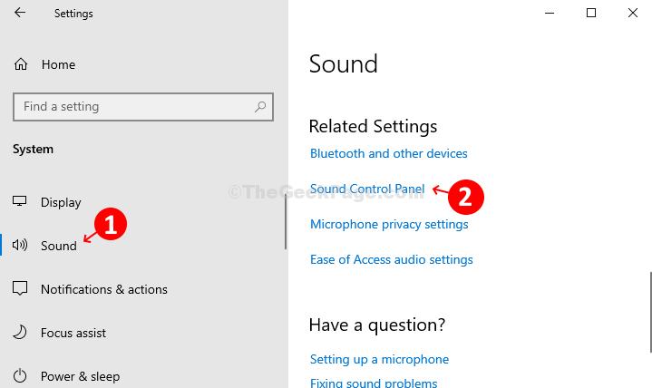 Diffusione sonora Pannello di controllo audio