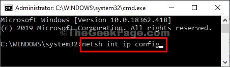 Configurazione IP Netsh