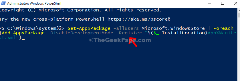Tipo di Powershell Enter Command