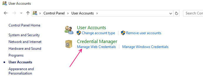 credenziali web