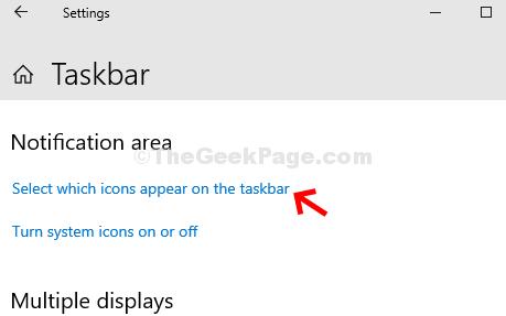 Impostazioni della barra delle applicazioni Area di notifica Selezionare le icone che appaiono sulla barra delle applicazioni