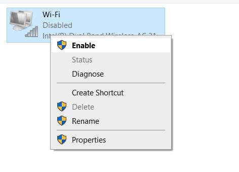 Abilita Wifi