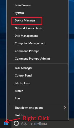 Apri Gestione dispositivi Wacom Pen non funziona Windows 10