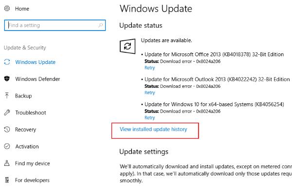 Aggiornamenti installati La penna Wacom non funziona Windows 10