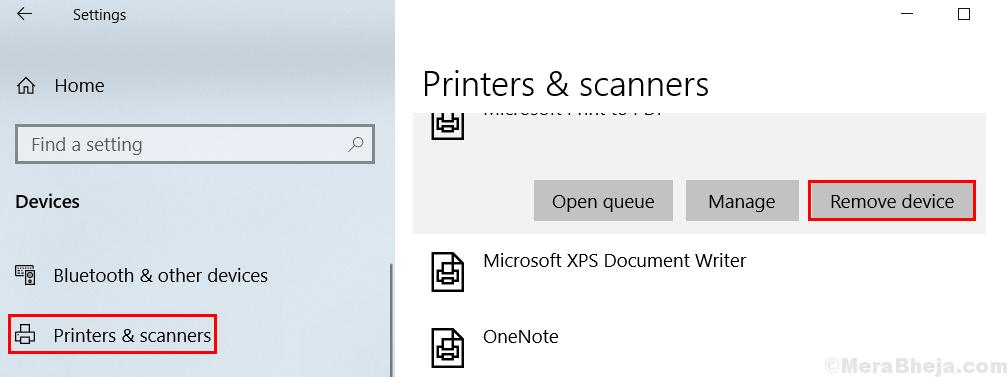 Elimina stampante min.