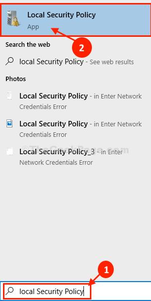 Politica di sicurezza di Lcoal