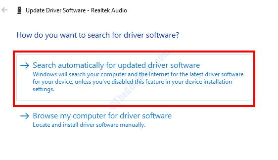 Cerca automaticamente i driver