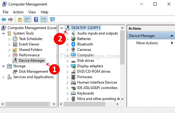 Left Right Device Manager in qualsiasi punto dell'elenco