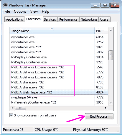 Termina la correzione del processo Il programma di installazione di Nvidia non può continuare l'errore Windows 10
