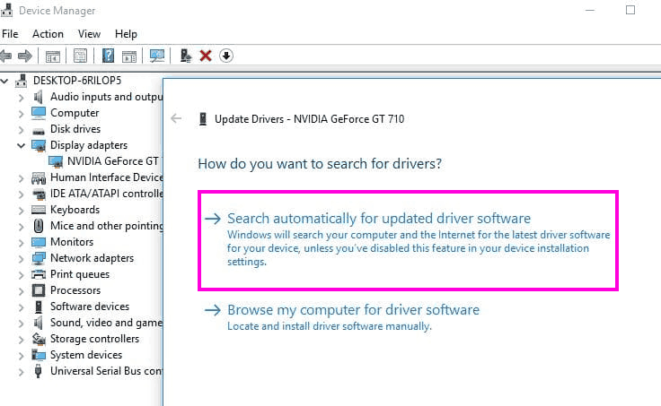 Aggiorna correzione automatica Il programma di installazione di Nvidia non può continuare Errore di Windows 10