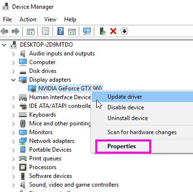 Proprietà del driver Correggere il programma di installazione di Nvidia non può continuare l'errore Windows 10