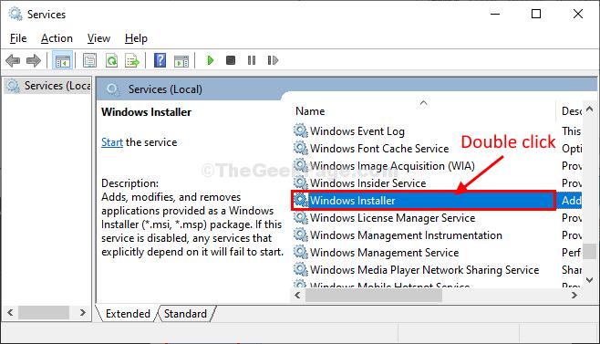 Windows Installer Fare doppio clic