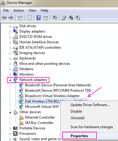Devmgr M1 5ghz Wifi non viene visualizzato Windows 10