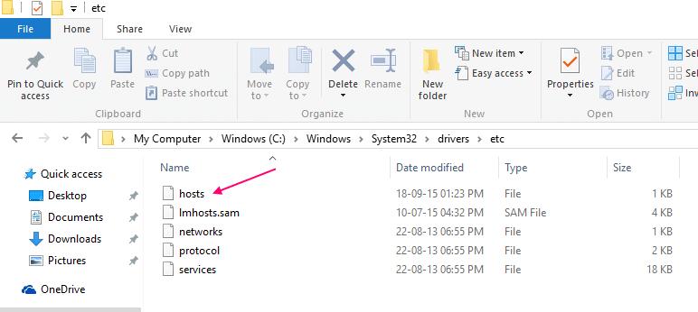 reset-hosts-file