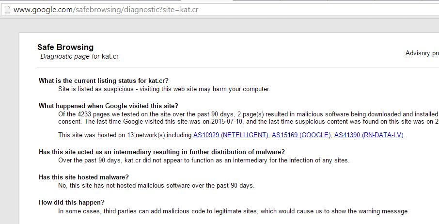 google-safe-diagnosi