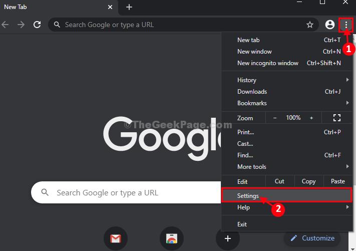 Nuove impostazioni di Chrome]